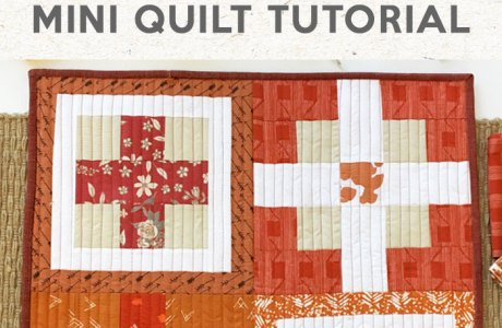 Tutorial: Rustic Crossroads Mini Quilt