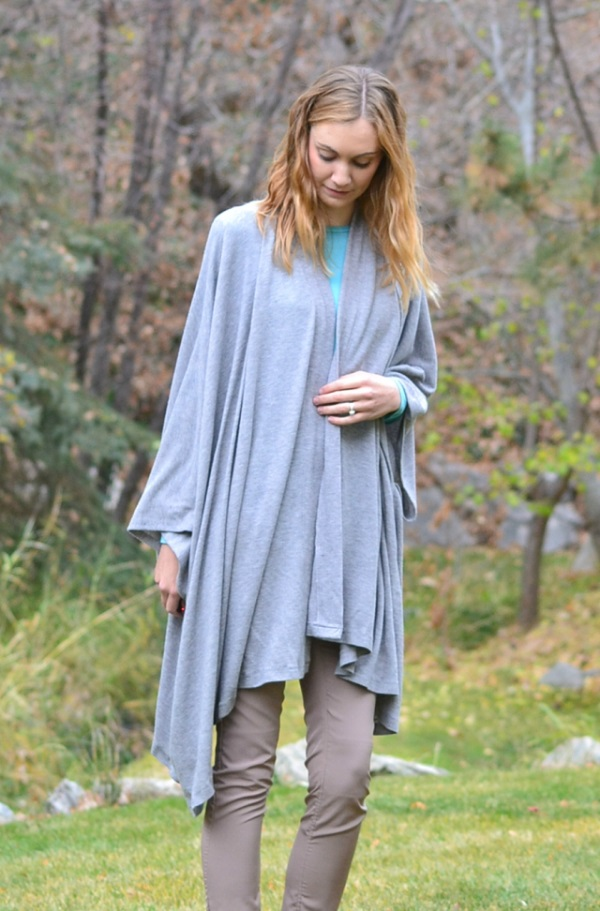 Tutorial and pattern: Loose fit drape cardigan
