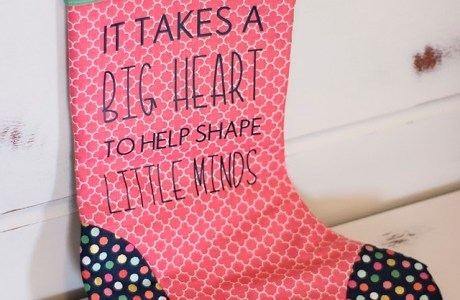 Tutorial: Personalized Christmas stocking teacher gift
