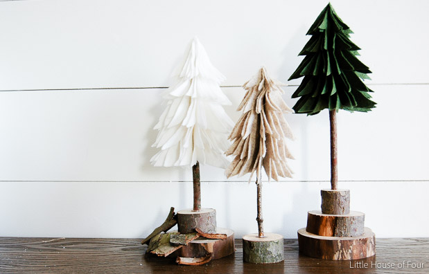 Tutorial: Rustic felt and wood Christmas trees