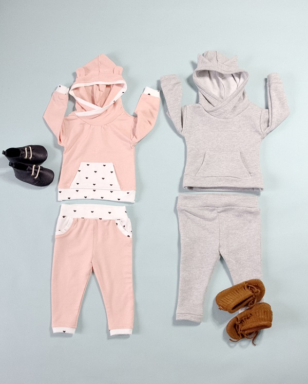 Tutorial and pattern: Baby French terry hoodie and track pants