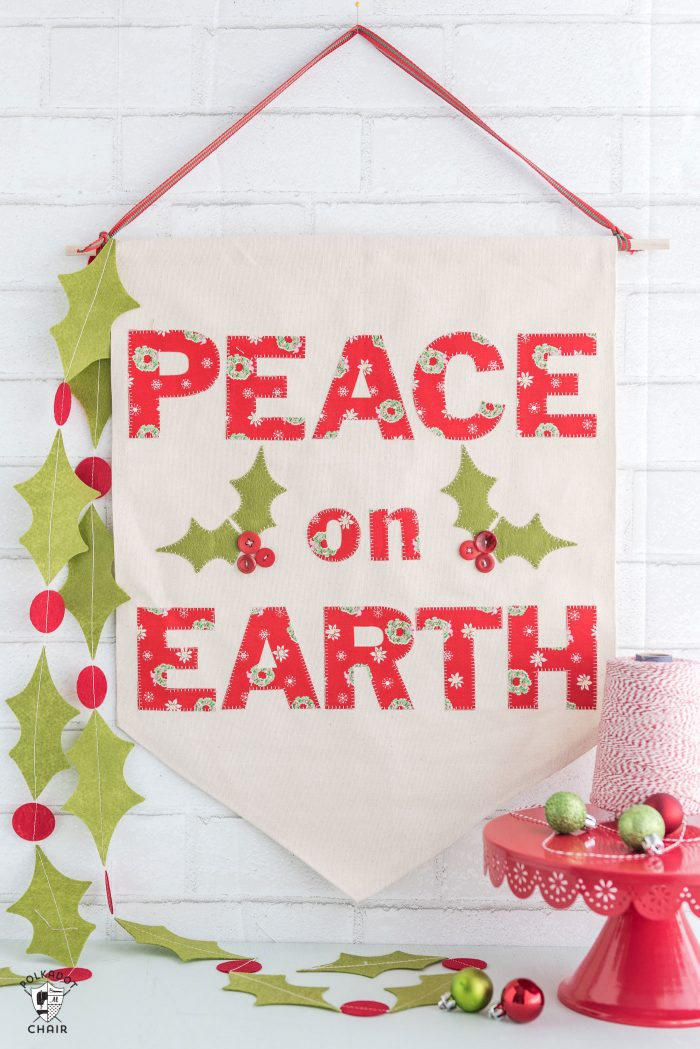 Tutorial: Peace on Earth Christmas banner