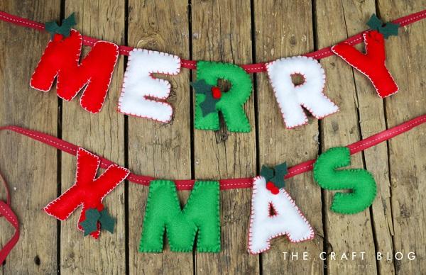 Tutorial: Felt letter Christmas banner