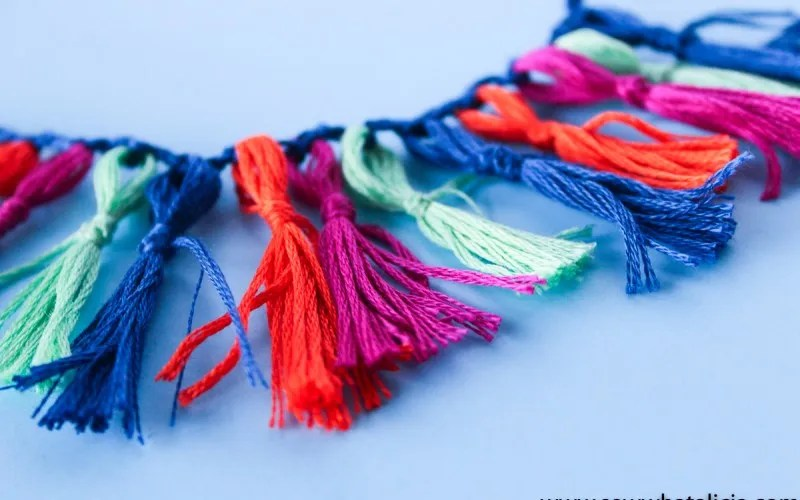 Tutorial: DIY tassel fringe trim
