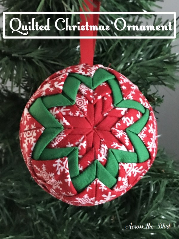 Tutorial Quilted Christmas Ornament No Sewing Required