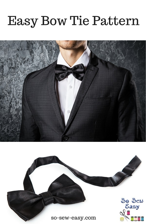 Tutorial and pattern: Easy men's bow tie