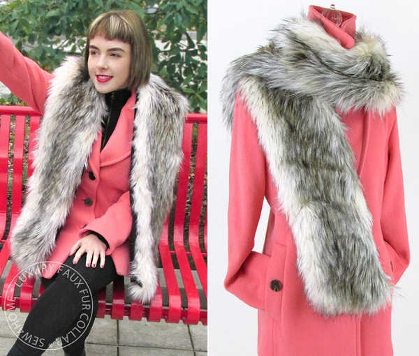 Tutorial Faux Fur Collar Wrap Sewing