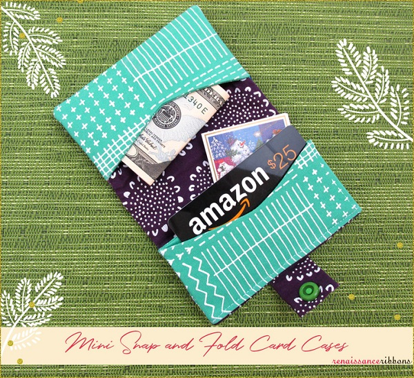 Tutorial and pattern: Snap-and-fold card wallet