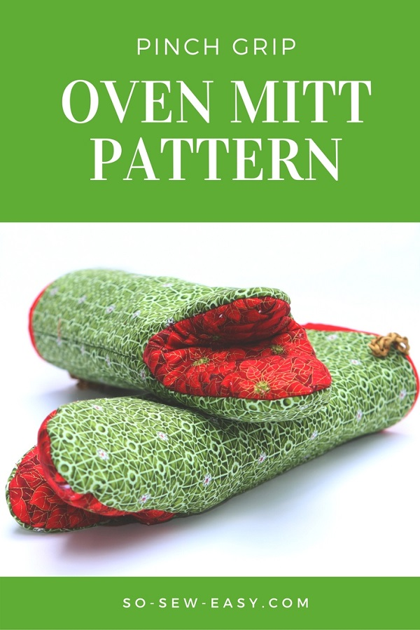 Tutorial and pattern: Pinch grip oven mitt