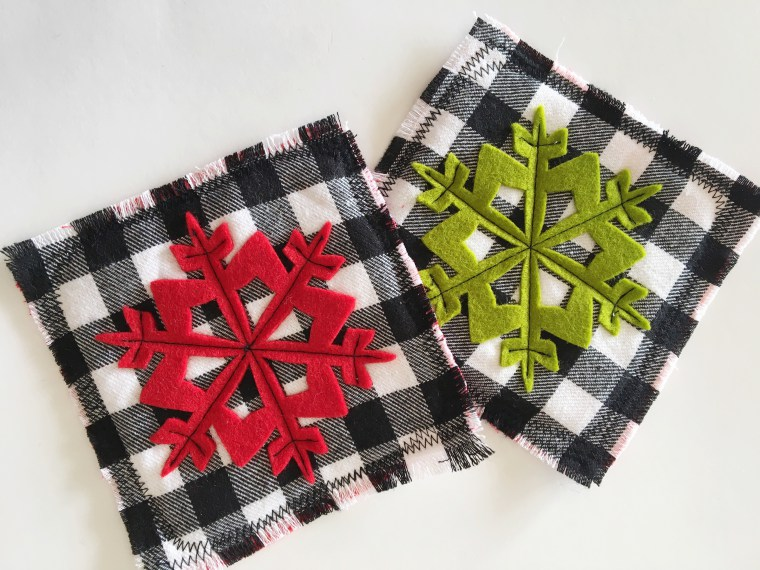 Tutorial: Easy fabric coasters with felt accents