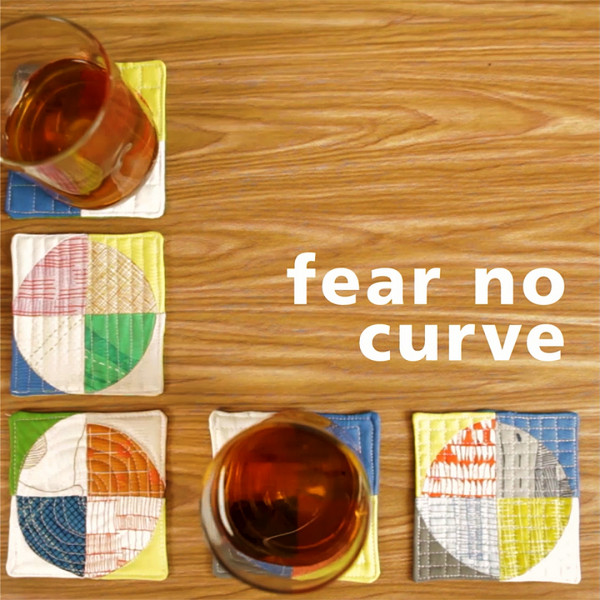 Tutorial: Curvy patchwork coasters