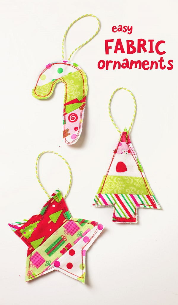 Tutorial: Scrap fabric Christmas ornament gift toppers
