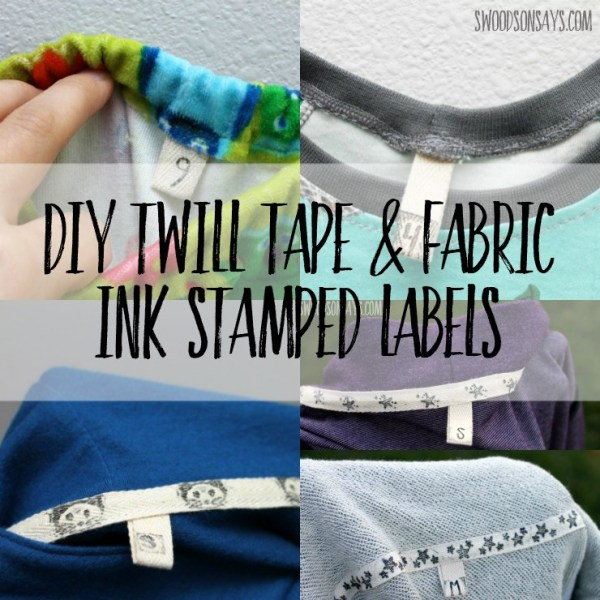 Tutorial: DIY twill tape labels for clothes you sew