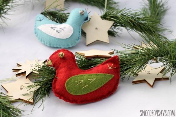 Tutorial and pattern: Jingle Bird felt softie
