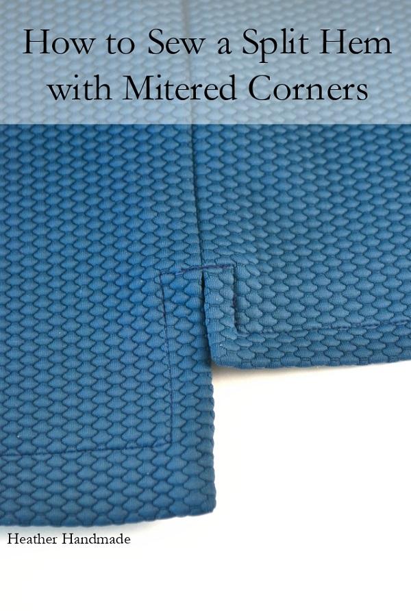 Tutorial: Split hem with mitered corners