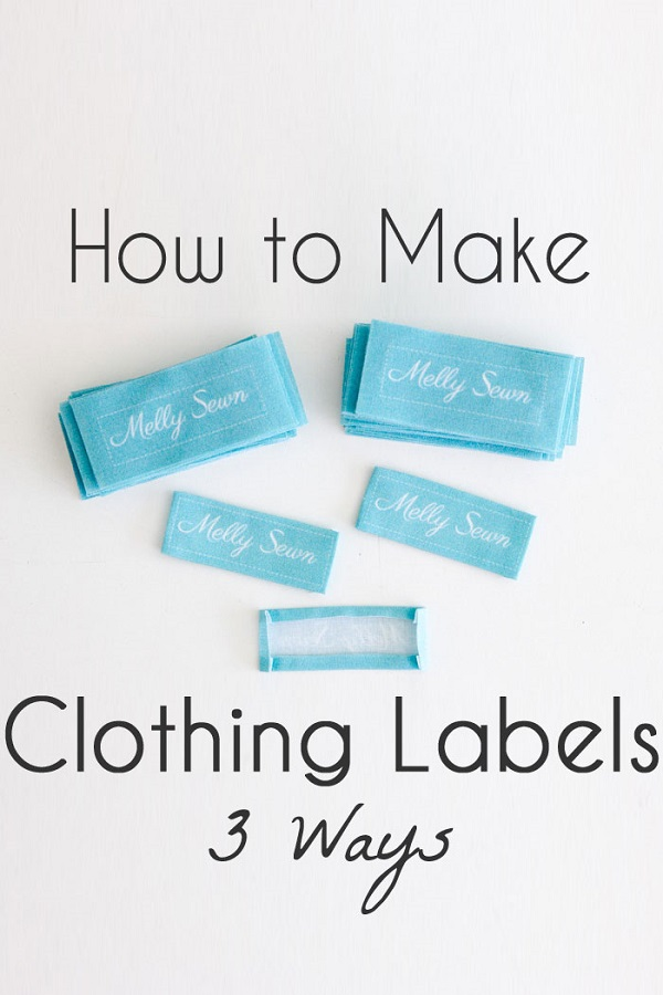 Tutorial: 3 ways to make labels for your handmade clothing