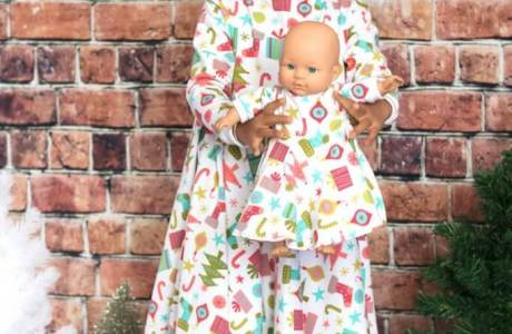 Tutorial and pattern: Matching dresses for a little girl and her doll