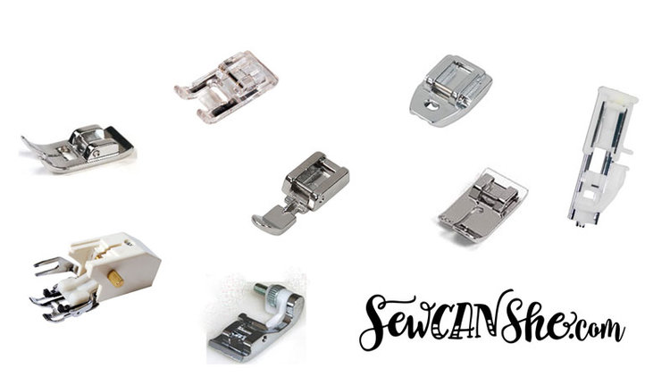 Printable: Common sewing machine presser feet and their uses