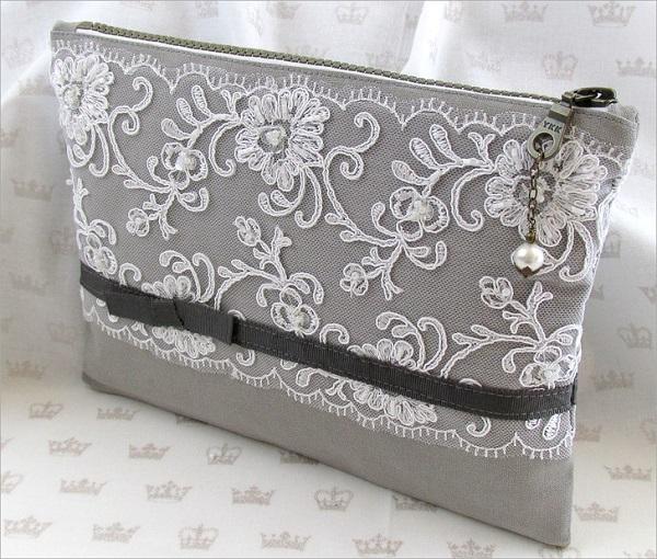 Tutorial: Beautiful lace overlay clutch purse