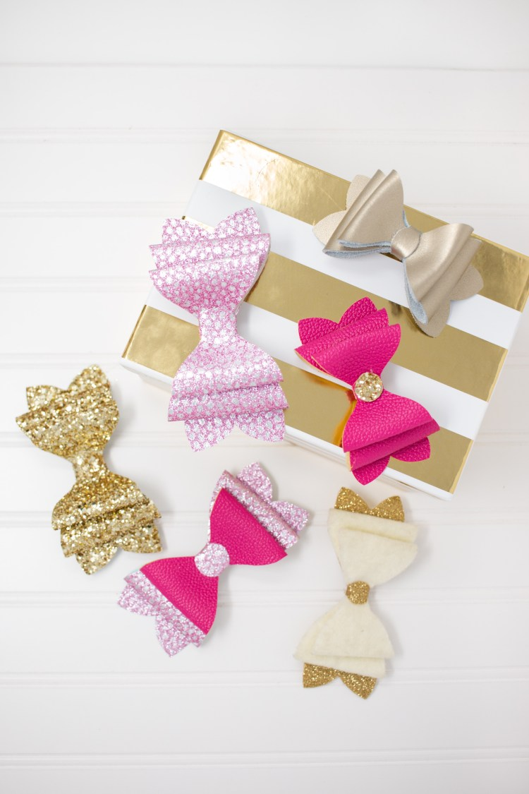 Tutorial and pattern: Stacked French hair bows, no sewing required