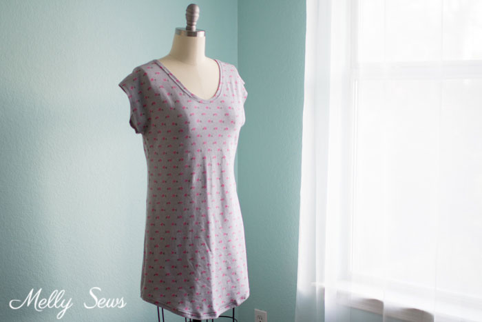 Tutorial and pattern: Sleep shirt