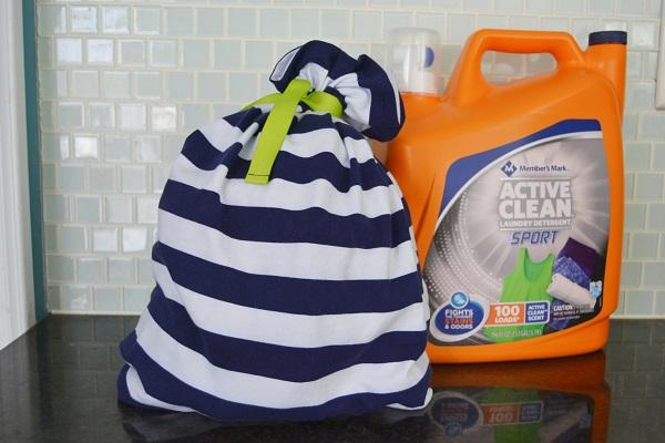 Tutorial: Gym clothes laundry bag