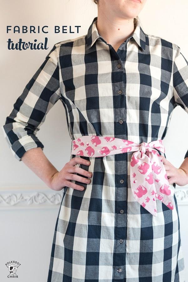 Tutorial 30 Minute Fabric Belt Or Sash Sewing