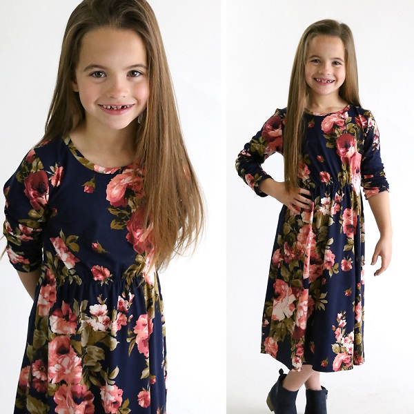 Tutorial: Sew a girl's midi knit dress