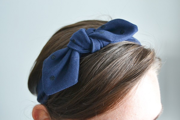 Tutorial: DIY knotted fabric headband