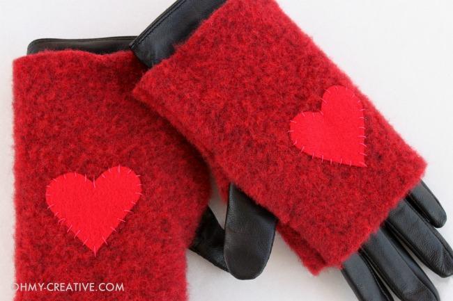 Tutorial: Felted wool fingerless gloves – Sewing