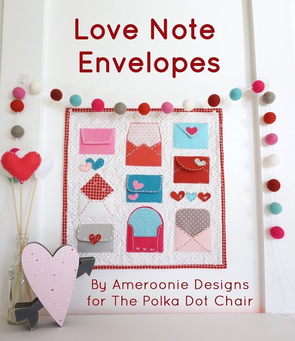 Tutorial: Felt Valentine love note envelopes