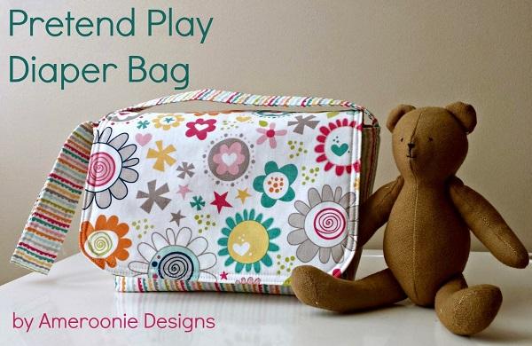 Tutorial: Kid sized pretend play diaper bag