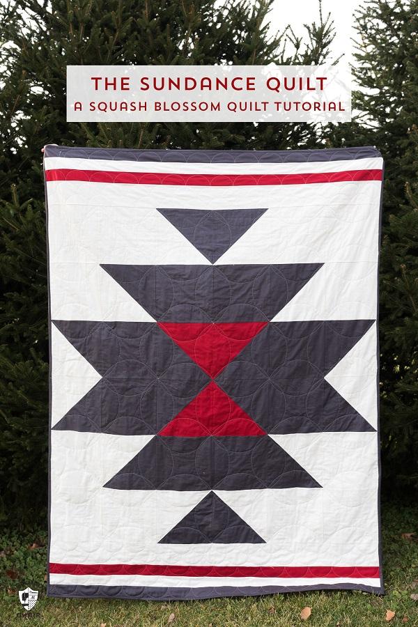 Tutorial: Sundance squash blossom quilt
