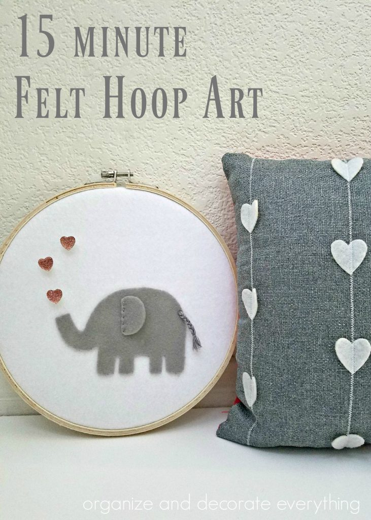 Tutorial: Valentine's Day elephant hoop art