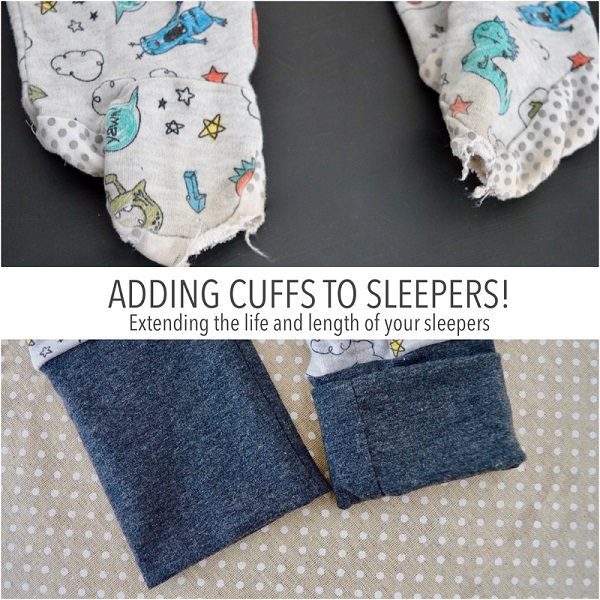Tutorial: Convert footie sleepers or pajamas to cuff ankles