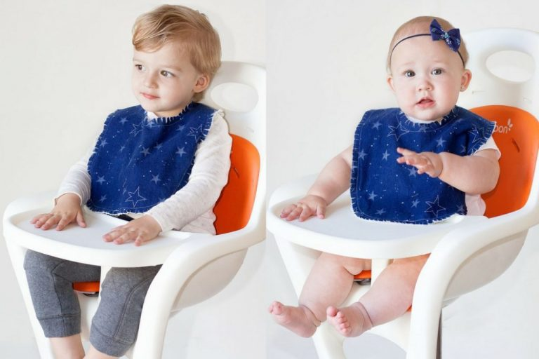 Tutorial and pattern: Easy fringed flannel baby bib