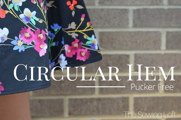 Tutorial: How to get a smooth circular hem