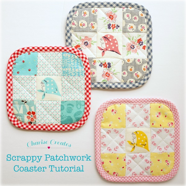Tutorial: Scrappy 9-patch coasters