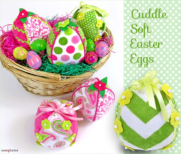 Tutorial: Soft fleece fabric Easter eggs