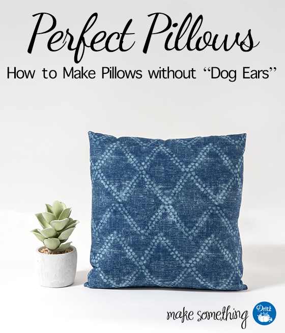 Tutorial: Pillow covers with no dog ear corners