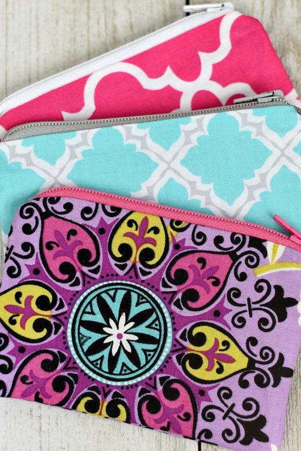 Tutorial:  Mini zip coin purse