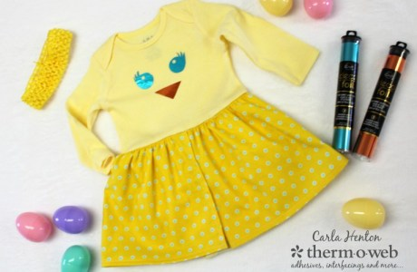 Tutorial: Easter chick onesie dress for baby