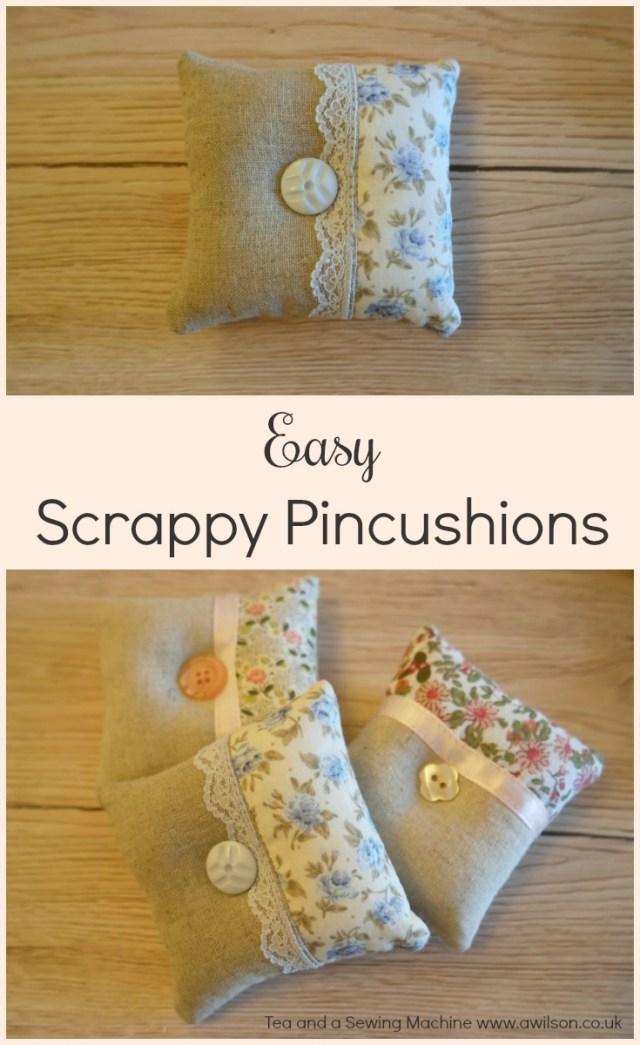Tutorial: Scrap fabric patchwork pincushion