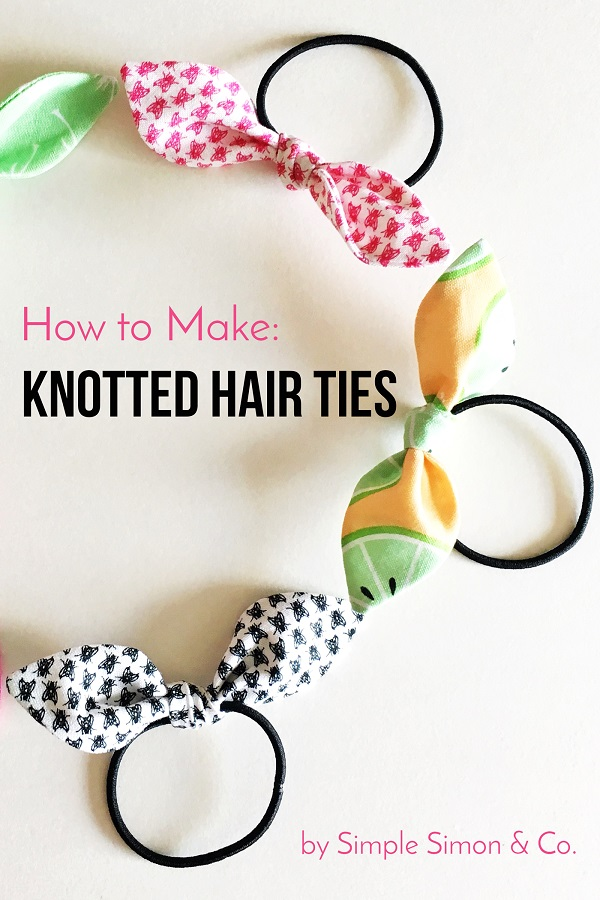 Free pattern: Knotted hair ties