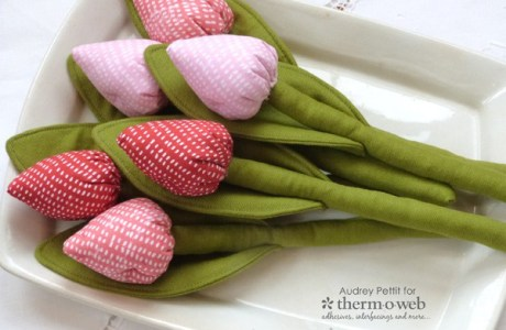 Tutorial: Easy fabric tulips