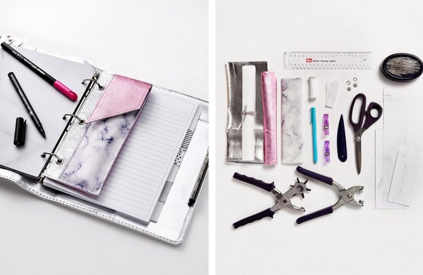 Tutorial and pattern: Vinyl and fabric pencil pocket for your planner