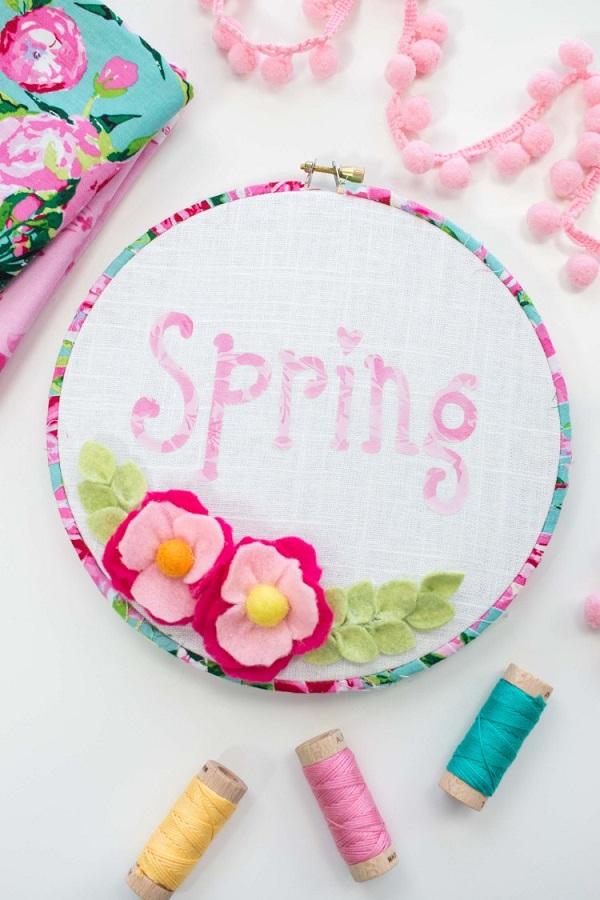 Tutorial: Spring embroidery hoop art