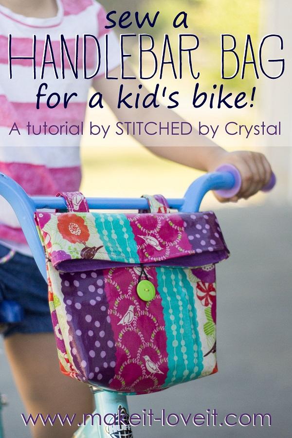 tutorial  bike handlebar bag for kids  u2013 sewing