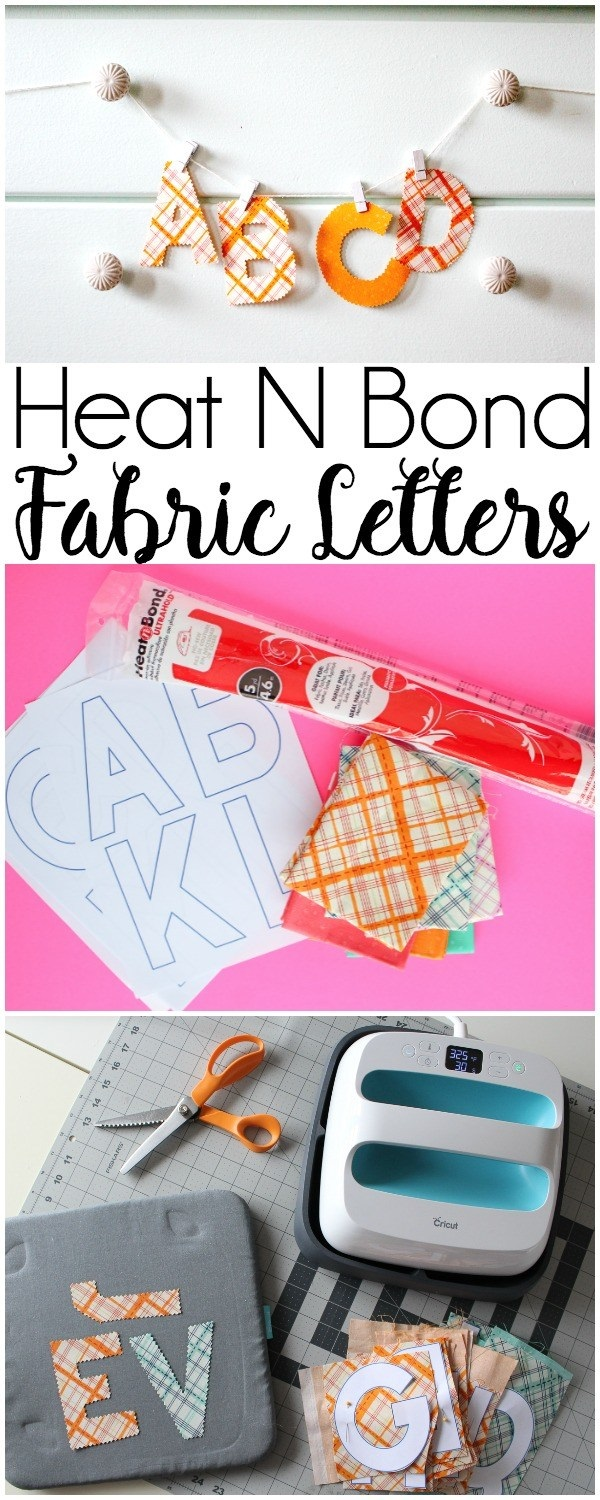 Tutorial: No-sew fabric letters