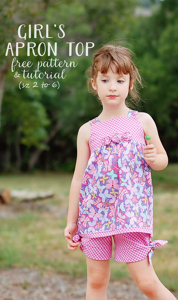 Tutorial and pattern: Girl's summertime apron top